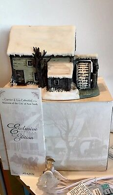 2002 Currier & Ives Museum City of New York 'Frozen Up' Lighted House