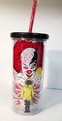 Stephen King's It 1990 Movie Pennywise 20 oz. Travel Tumbler Cup Horror