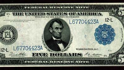 $5 1914 Federal Reserve Note ** MORE CURRENCY FOR SALE **