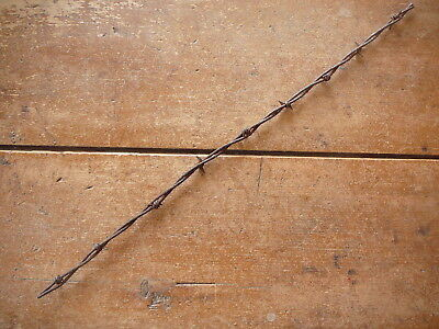 Glidden & Baker Combination Barbs Alternate Sequence On 2 - Antique Barbed Wire