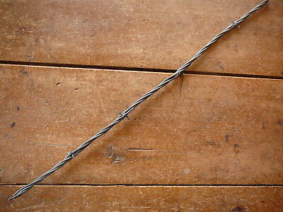 GLIDDENS TWO POINT on ONE of FOUR HEAVY GALVANIZED LINES - ANTIQUE BARBED WIRE