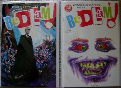 Bedlam! #1-2 Eclipse (2) Comic Complete Set 1985 VF to NM Veitch & Bissette
