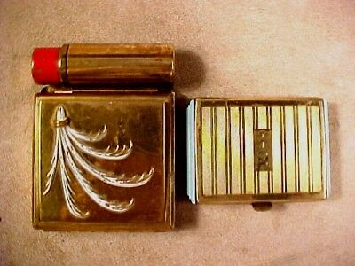 COMPACT/VANITY CASE PAIR,  COTY COMPACT, YARDLEY VANITY CASE w/LIPSTICK HOLDER.