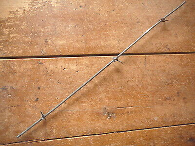 WINGS GALVANIZED  FOUR POINT BARB on SINGLE ROUND LINE -  ANTIQUE BARBED WIRE