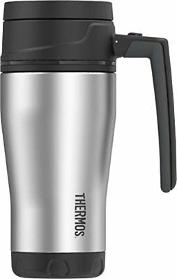 Thermos ELEMENT5 16 Ounce Vacuum Insulated Stainless Steel Travel Mug Black Gray