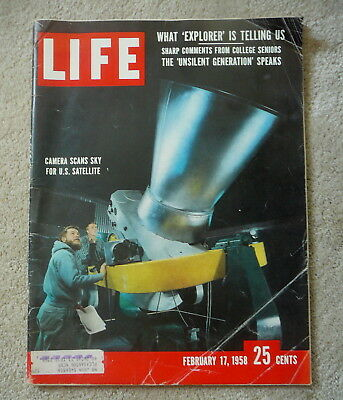 Life Magazine - February 17 1958 - Camera Scans Sky For Us Satellite - Vanguard