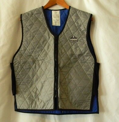Ergodyne Tenacious Work Gear Men's Silver Sleeveless Cooling Vest Sz L
