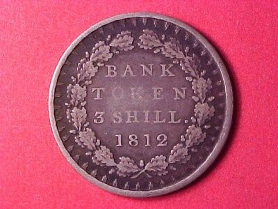 Great Britain 3 Shillings Silver Bank Token 1812 George Iii