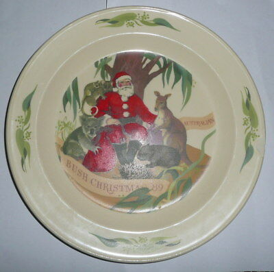 Bendigo Pottery 1989 Ceramic Christmas Plate