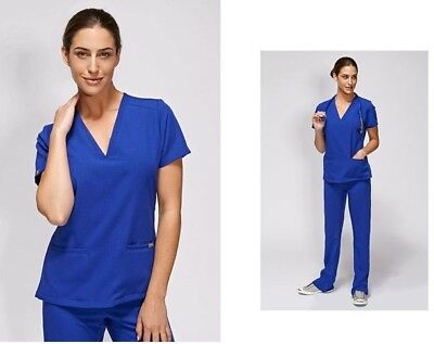 Women's FIGS Scrubs top Casma XXS Royal Blue limited edition color x extra small