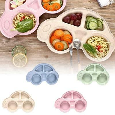 Baby Toddler One Piece Plastic Placemat Plate Dish Food Tray Kids Car Shape new