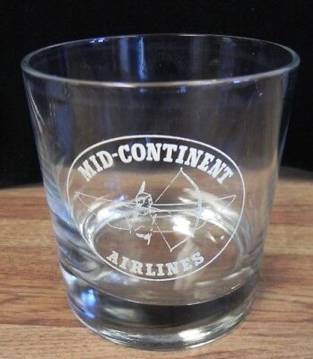 Mid-Continent Airlines Cocktail Glass..mid Continent Airlines Vintage Glass!