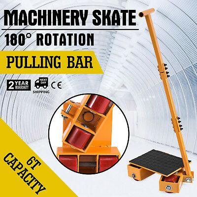 13000LBS Machinery Skate Machinery Mover Q235 Steel Rotation Heavy Duty HOT