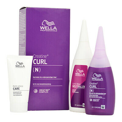 Wella Creatin+ Curl N Set Normales Bis Widerspenstiges Haar, 205ml