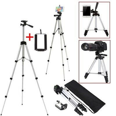Portable Professional Adjustable Camera Tripod Stand Mount+Cell Phone Holder+Bag
