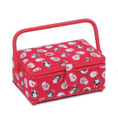 HobbyGift Classic Small Rectangular Sewing Box Dotty Sheep 16x24x11cm