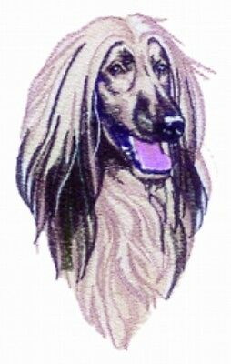 Embroidered Long-Sleeved T-shirt - Afghan Hound BT3416 Sizes S - XXL