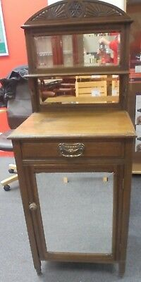 EDWARDIAN Style Solid Oak Small Rustic Dressing Table / Cabinet  - R22
