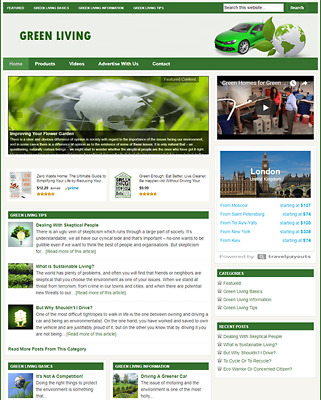 GREEN LIVING GUIDE - Responsive Niche Website For Sale - Newbie Friendly