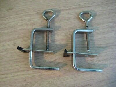 Pair of knitting machine table clamps Singer style