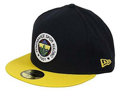 S42 NEW ERA OFFICIAL 59FIFTY FENERBACHE Black Yellow Baseball Cap  Various Sizes