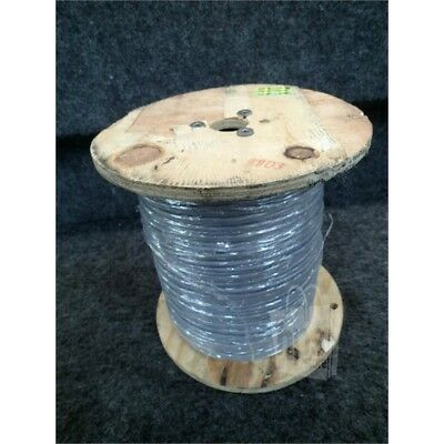 Communication Cable, 1000ft Spool, 18/2P, STR, Sheilded, Gray *