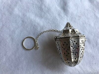 Antique Webster Company Sterling Silver Tea Ball Infuser Acorn, c.1900