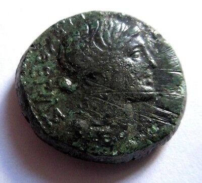Ae-26 of Marc Anton with Octavianus from Thessalonica    Rv. Nike left