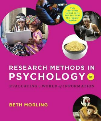 Research Methods in Psychology: Evaluating a World of Information (Second Edit..