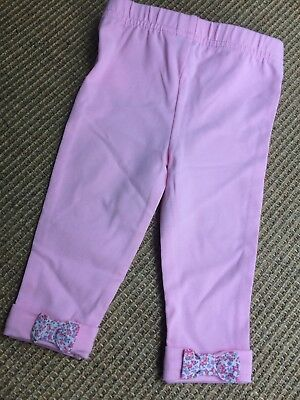 Girls RALPH LAUREN Pink Bow Back Leggings - 9 Months BRAND NEW WITH TAGS