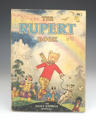 Vintage 1948 The Rupert Book - Rupert Annual - Fair Condition - Unusual!