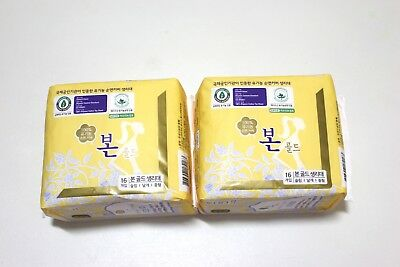 Bon sanitary napkin pad, made in Korea, organic cotton,free shipping