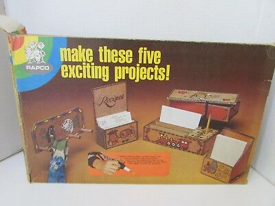 Vtg Rapco #6910 Super Deluxe Woodburning Project Set Most Pieces Intact