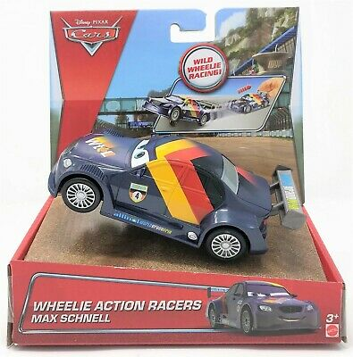 Disney  Cars Max Schnell Wheelie Action Racer Vehicle Car Toy