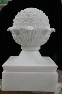 Beautiful Hand Carved Marble Estate Artichokes - Mm76