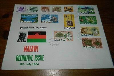 Malawi 1964 Definitive Issue On Illustrated Fdc (13 Stamps)