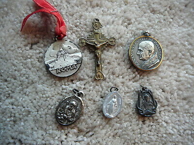 LOT of SIX VINTAGE RELIGIOUS CATHOLIC MEDALS - POPE PAULUS VI & JOHANNES XXIII