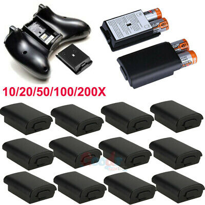 Lot AA Battery Back Cover Case Shell Pack For Xbox 360 Wireless Controller USA