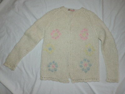 Vintage Wool Mohair Knit Cardigan Sweater Hand Made In Italy