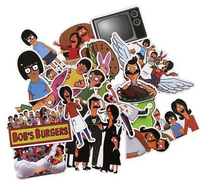 Bobs Burgers TV Series Themed Set of 21 Assorted Stickers Decal Set
