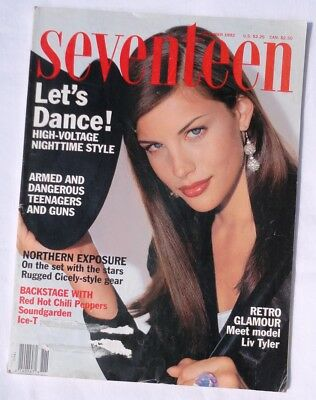 Seventeen Magazine November 1992 Liv Tyler Lollapalooza RHCP Northern Exposure