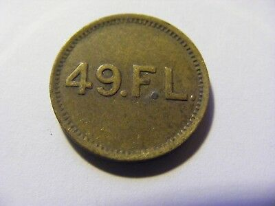 A 49.F.L Rock and Play Coupon Token -  Nice condition - 21mm DIa