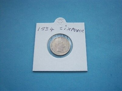 1834 Sixpence.very Nice.no Click & Collect Service.uk Only
