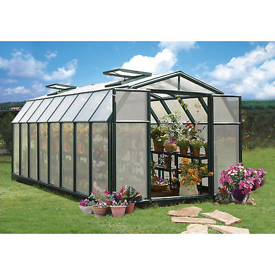 Rion Hobby Gardner 2 Twin-Wall Greenhouse - 8ft. x 16ft., Model# HG7116