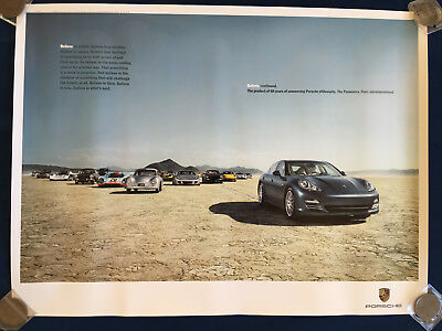 PORSCHE FIRST PANAMERA INTRODUCTORY POSTER 2009 356 911 917 928 CGT etc USA NEW