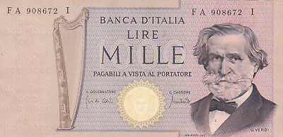 1000 Lire Extra Fine Banknote From Italy 1969!pick-101