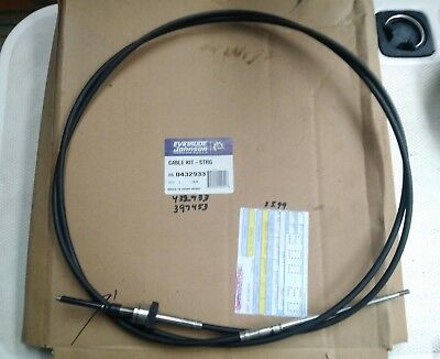 9a2c5e030a50a NOS OEM JOHNSON EVINRUDE OMC trolling motor STEERING CABLE 432933 .