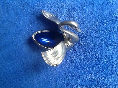Seba Swan salt cellar Silver Plated