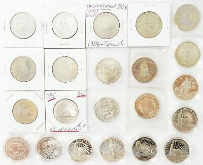 (26) Commemorative US Half Dollar Clad Coins Olympics Liberty Rushmore W Cup R36