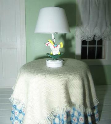 Miniature Dollhouse 1:12 Scale-Nursery Rocking Horse Battery Operated Lamp T26